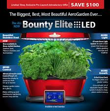special offer on all new miracle gro aerogarden bounty elite colors