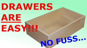 How To Make Pull Out Drawers In Kitchen Cabinets How To Make Easy Simple Drawers Youtube