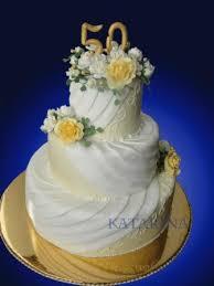 goldene hochzeitstorten silberne goldene torten englische torte für die goldhochzeit