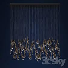 Cloud Chandelier 3d Models Ceiling Light Ochre Seed Cloud Chandelier 112 Buds