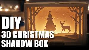 how to make a diy 3d christmas shadow box card mad stuff with