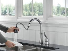 kitchen faucets with pull out spray kitchen delightful delta kitchen faucets pull down 034449635578