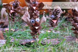 nature craft for kids pinecone owl kids craft domestic mommyhood