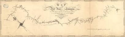 Louisiana Rivers Map King U0027s Map Of The Red River In Louisiana 1806