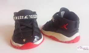 fondant baby jordan sneakers cakecentral com