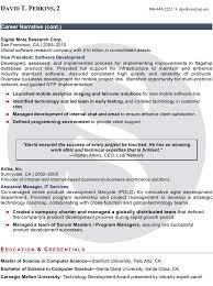 Narrative Resume Samples by Professional Resume Sample Shimmering Careers