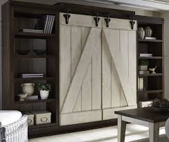 wall unit lancaster antique white and brown entertainment wall unit from