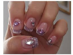 simple rhinestone nail designs how you can do it at home