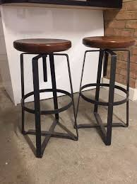 Industrial Adjustable Bar Stools 2x Industrial Style Adjustable Bar Stools In West End London