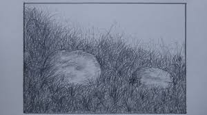 How To Draw Landscapes by How To Draw Grass Using Pencil For Landscape Youtube