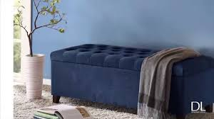 madison park storage ottoman shandra bench storage ottoman with tufted top by madison park youtube
