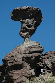 balanced rock a geologic oddity in south central idaho near buhl