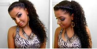 how to easy quick cute twist side natural curly hairstyle