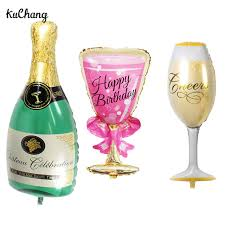 oversize balloons oversize chagne cup bottle foil balloons birthday party