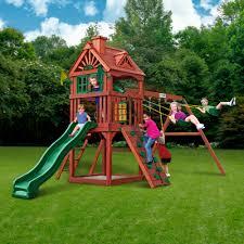 ideas best gorilla playsets landing cedar wooden swing set with
