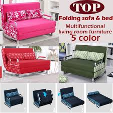 Foldable Sofa Aliexpress Com Buy 100 Cotton Sofa Bed High Resilience Foam
