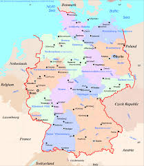 German States Map by Map Germany States