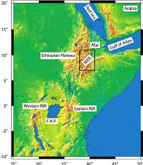 Map Of East Africa by Location Map Of The East African Rift System Including The Red
