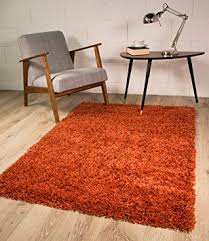 Area Rug Mat Terracotta Orange Luxury Shaggy Shag Area Rug Mat 2 X