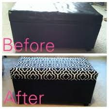 Diy Reupholster Ottoman by Guyer Family Blog Ottoman Before And After I Have This Very Same