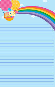free printable rainbow stationery free printable note paper planners bullet journals pinterest