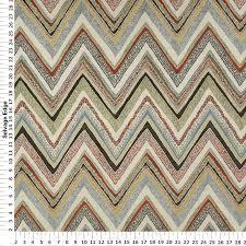 Upholstery Fabric Prints Multi Zig Zag Home Decor Fabric Heavyweight Upholstery Fabric