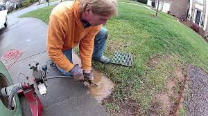 how to clean drain under driveway by apple drains youtube