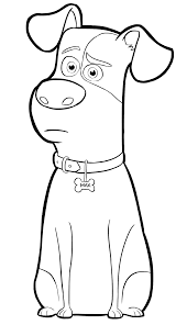 max from the secret life of pets coloring page