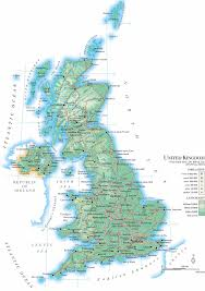 Map Of The United Kingdom Geographical Map Of The Uk You Can See A Map Of Many Places On