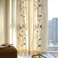 Country Porch Curtains Country Porch Curtains Floral Pattern Linen Cotton Blend 16 267
