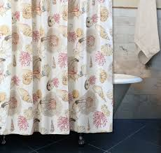 Tropical Beach Shower Curtains by Curtain Beach Cottage Seashell Coral Tropical