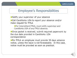 Human Resources Representative Family Medical Leave Administration Program Staff Presentation