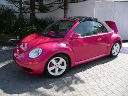 volkswagen beetle pink convertible all doll u0027d up read my lips
