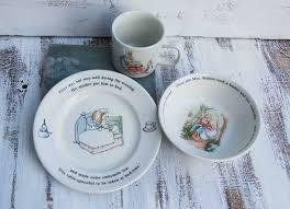 rabbit wedgwood beatrix potter s rabbit mug plate bowl set wedgwood