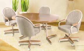 Kitchen Chairs With Arms by Fancy Kitchen Chairs With Rollers With Caster Dining Room Chairs