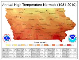 Climate Map Iowa Climate Normals Maps