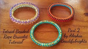 beaded rope bracelet images Tetrad beaded rope bracelet tutorial part 2 jpg
