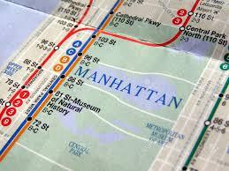 Metro Nyc Map Subway Map Of The New York Underground Metro Tube Network Stock