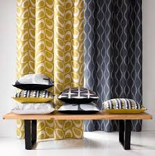 Retro Curtains Marshall Ikon Print Fabric Collection Two Retro And