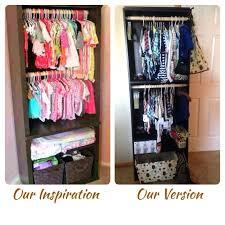 wardrobes diy baby clothes closet organizer nursery organizer 3