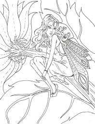 the stylish free printable fairy coloring pages pertaining to