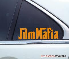 jdm subaru stickers jdm mafia japanese japan car scene sticker decal