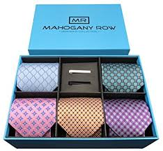 tie box gift 5 luxury men s neckties 2 modern tie bars designer gift box the