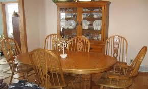 oak dining room sets with hutch home design