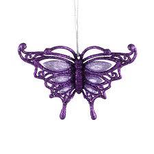 purple butterfly ornament 12cm