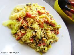 cuisiner le chou chinois cuit chou chinois chignons lardons et riz touille