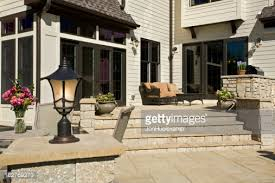 Yard Patio Outdoor Patio Kitchen Luxury Exterior Stock Photo Getty Images