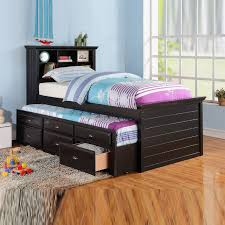 wood trundle bed frame u2014 derektime design twin bed with trundle