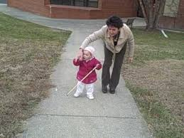 How Do Blind People Walk Around Watch Me Go Blind Preschooler Uses Cane Youtube