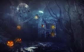 happy halloween 2014 scary night view